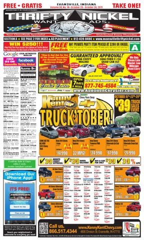 October 20 2011 issue by thrifty nickel of evansville indiana issuu page 1 fandeluxe Gallery