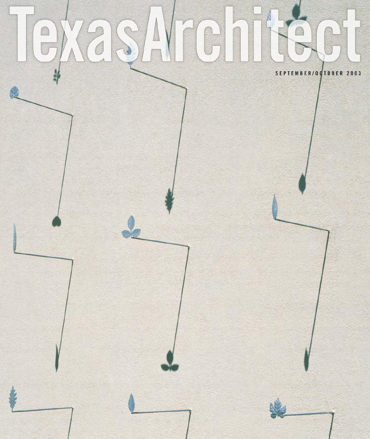 Texas Architect Sept/Oct 2003: Design Awards by Texas