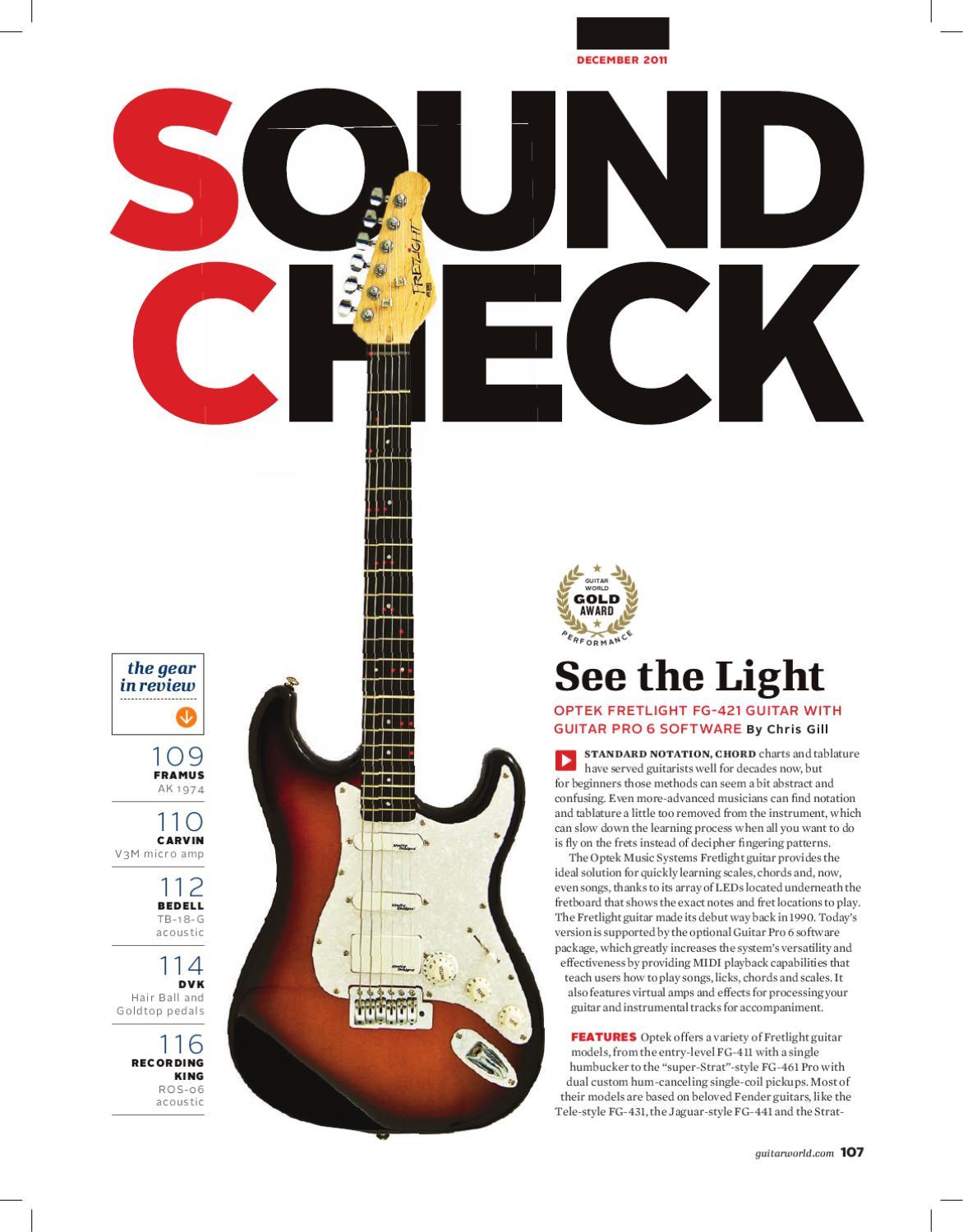 guitar world fretlight review dec 2011 by arobas music guitar pro issuu. Black Bedroom Furniture Sets. Home Design Ideas