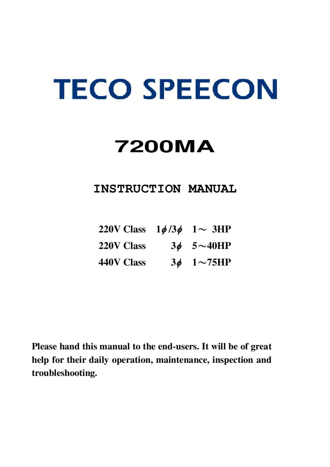 Teco 7200ma Manual Www Iran Plc Ir By Heidar Ghaedi Issuu