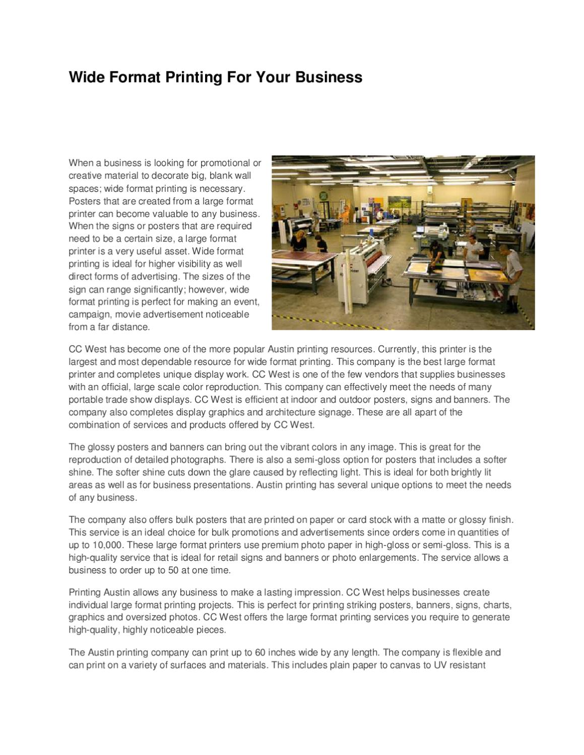 Wide-Format-Printing-For-Your-Business by Drew Brown - issuu