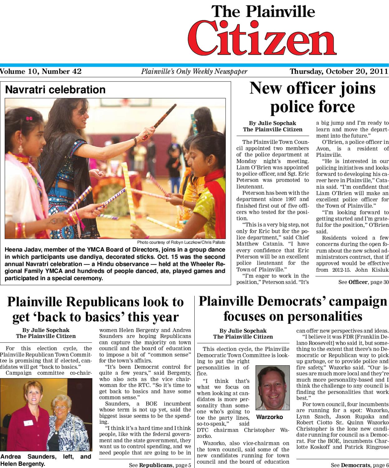 10 20 2011 Plainville Citizen By Dan Champagne Issuu Small Snack Time Acs Tlt Series