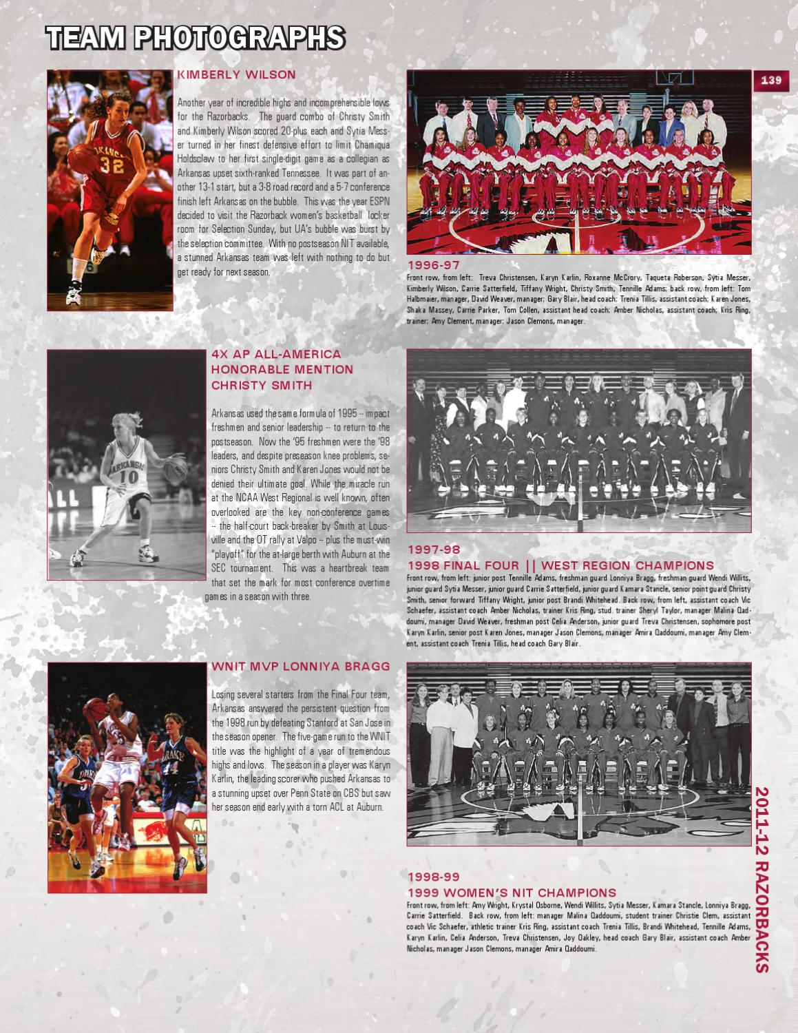 2011-12 Arkansas Women's Basketball Media Guide by