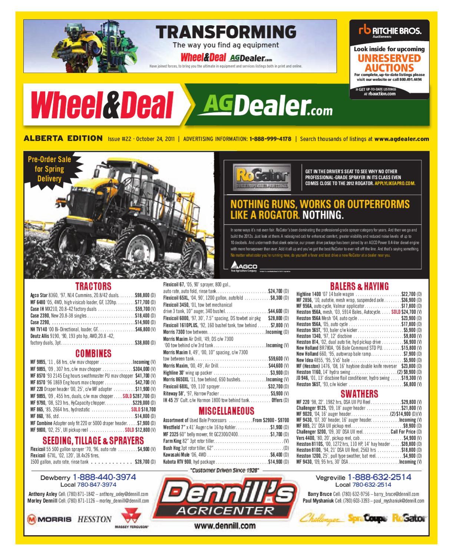 Wheel & Deal Alberta, October 24, 2011 by Farm Business ...