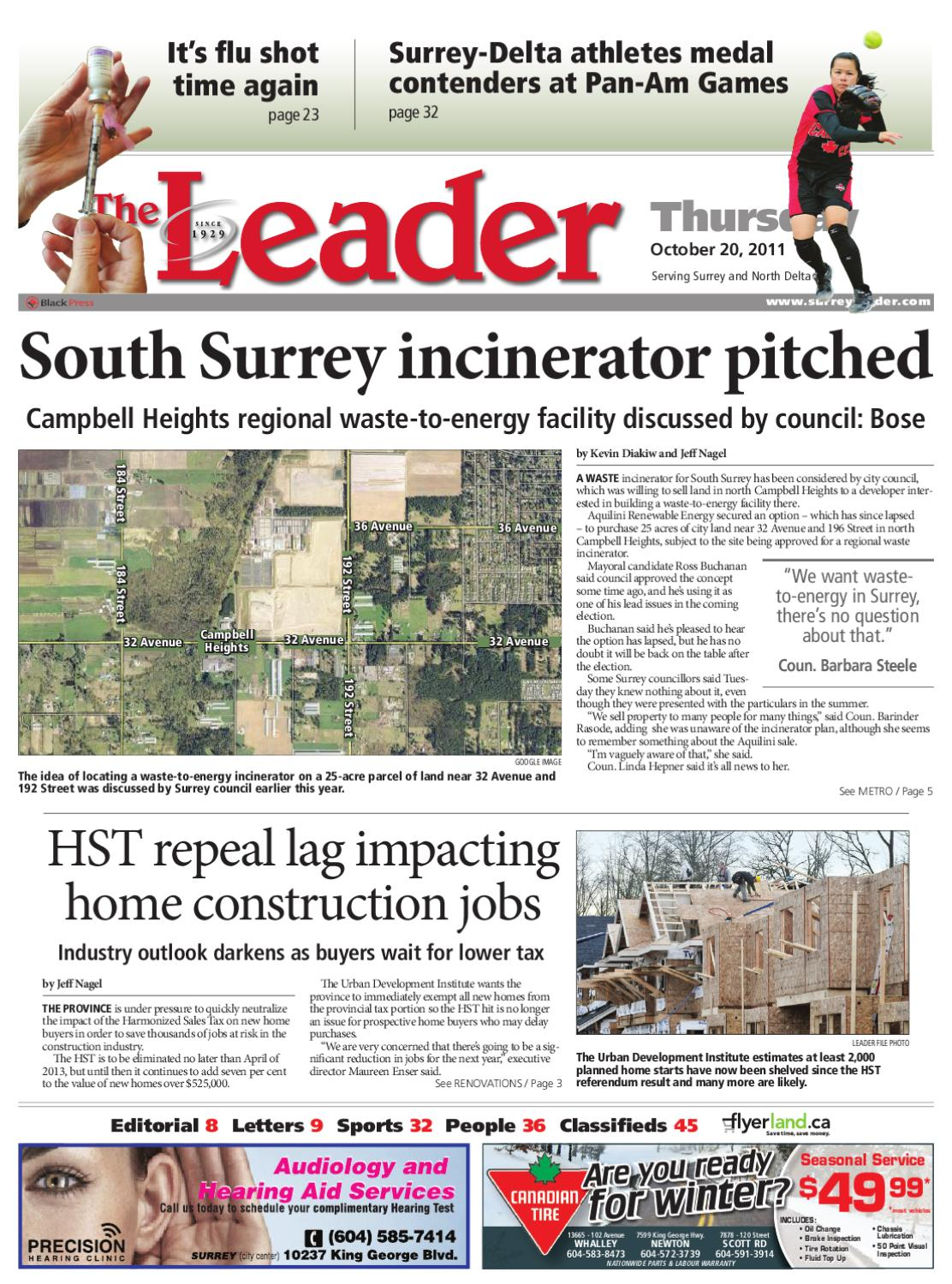 Thurs Oct 20 2011 Leader by Surrey Leader - issuu