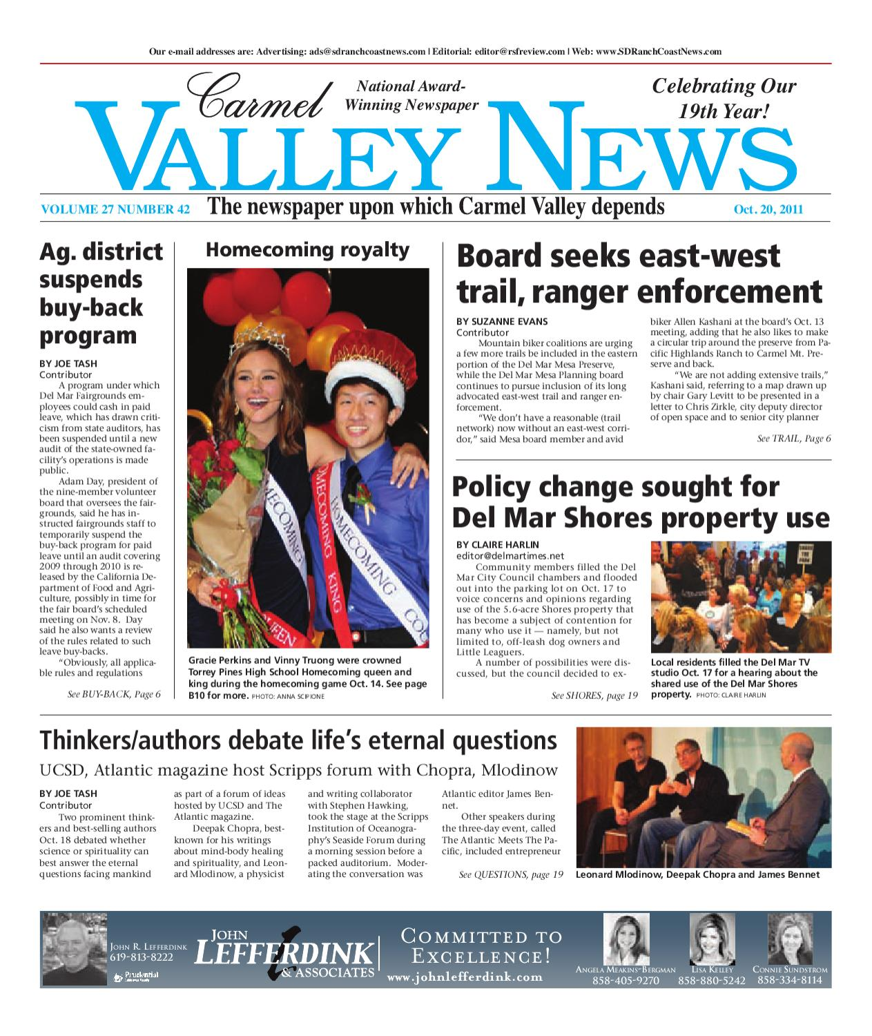10 20 2011 carmel valley news by mainstreet media issuu malvernweather Choice Image