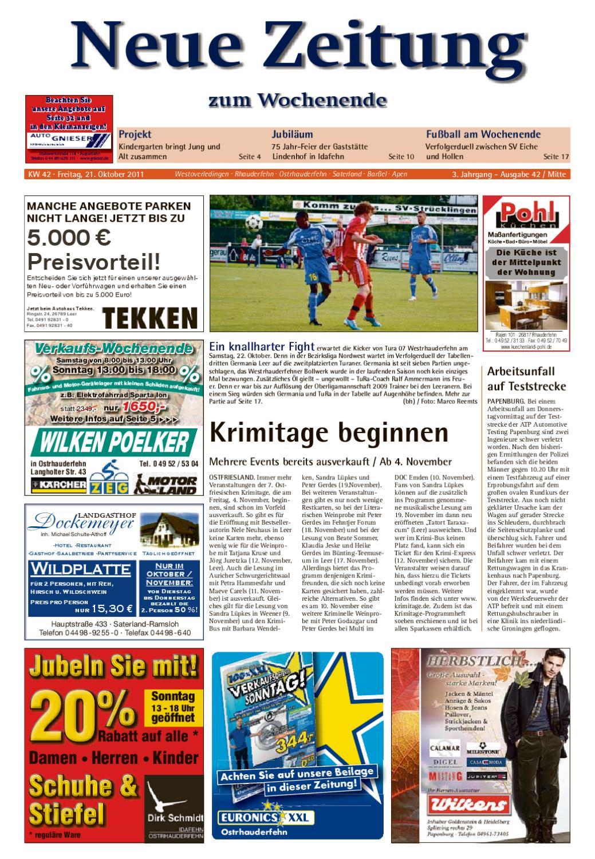 Neue Zeitung Ausgabe Mitte Kw 42 By Gerhard Verlag Gmbh Issuu