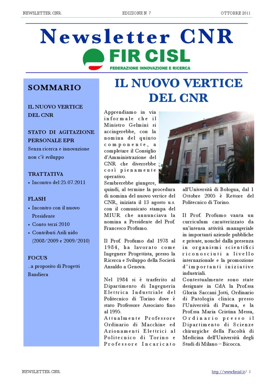 buon servizio vari design ultimo design Newsletter n.7 FIR CISL by nico para - issuu