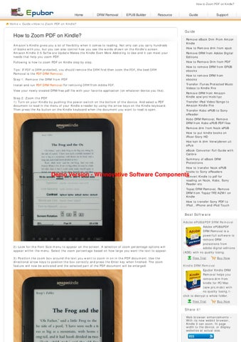 Converting drm kindle books to pdf