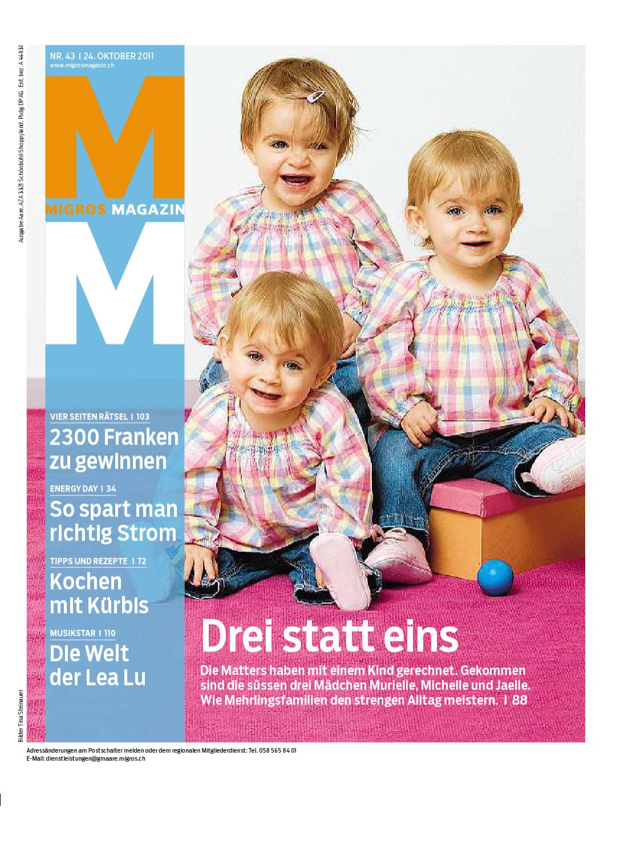 migros magazin 43 2011 d zh by migros genossenschafts bund issuu. Black Bedroom Furniture Sets. Home Design Ideas