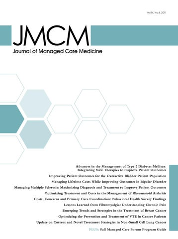Journal Of Managed Care Medicine Volume 14 Number 4 By Jeremy
