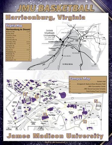 James Madison Campus Map.2011 12 Jmu Women S Basketball Guide By James Madison University