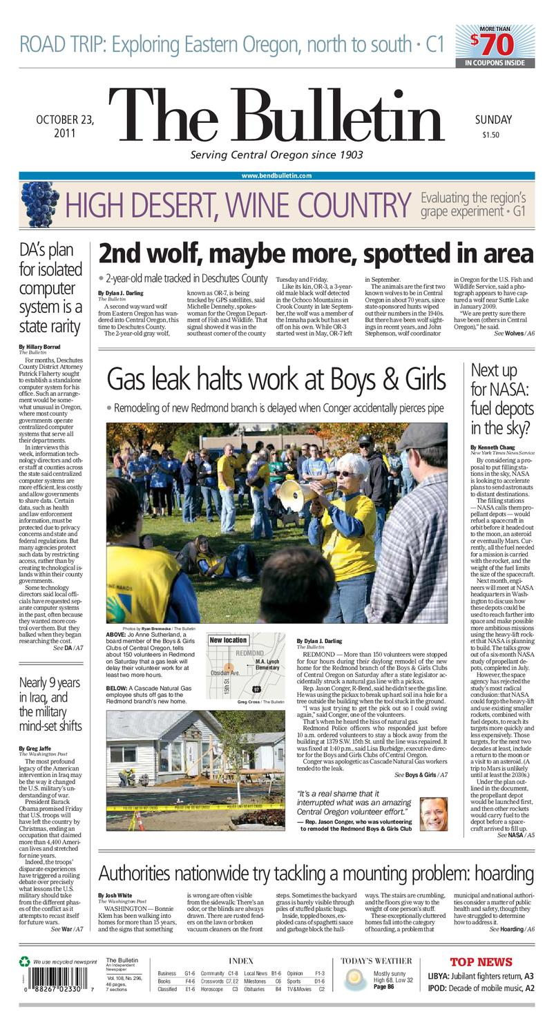 Bulletin Daily Paper 10/23/11 by Western Communications, Inc