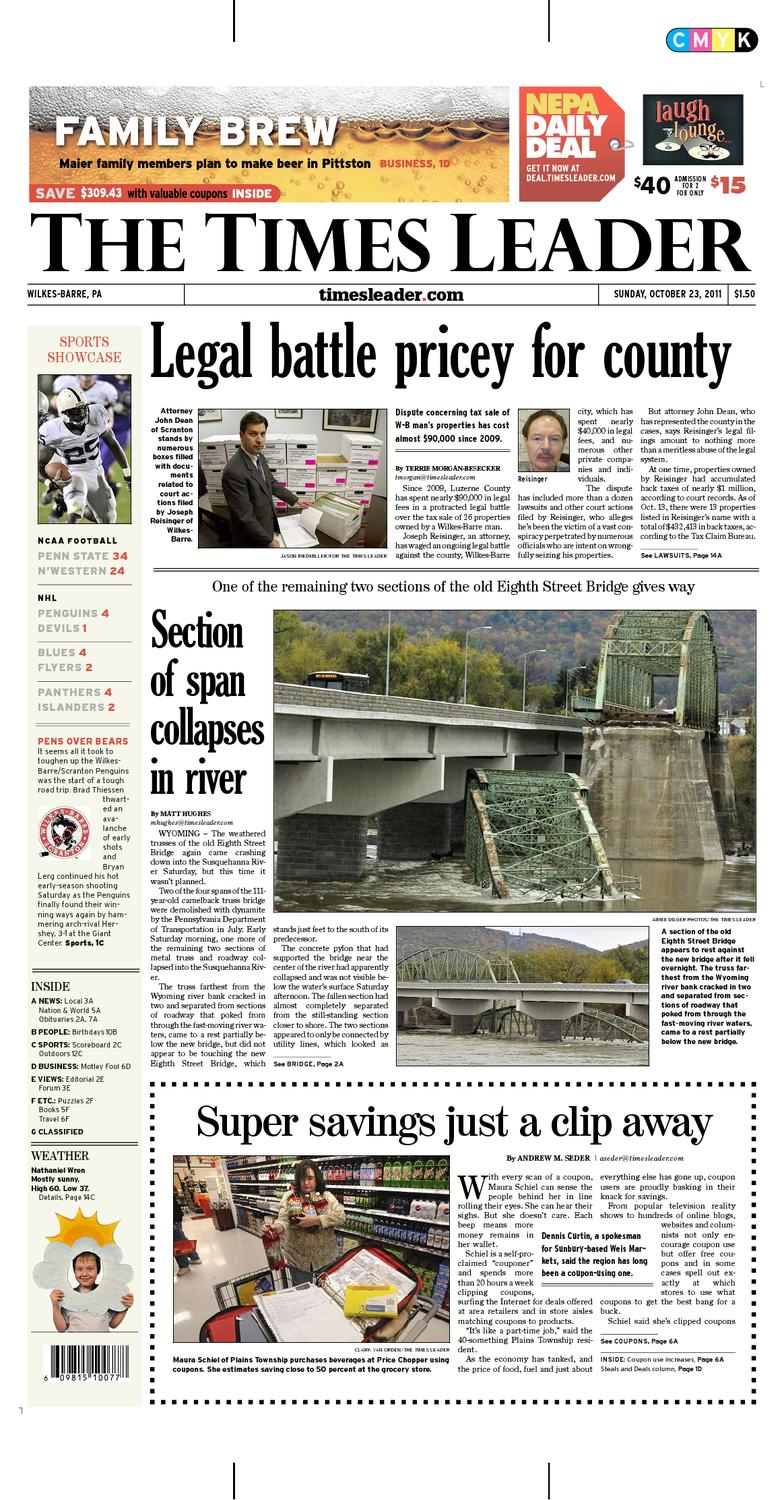 Times Leader 10-23-2011 by The Wilkes-Barre Publishing