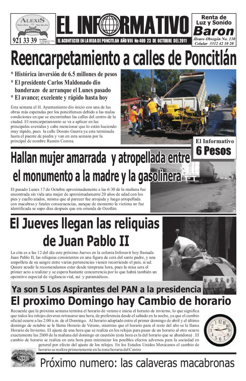 El Informativo De Poncitl N Y Zapotl N Del Rey N 469 By Lehabim  # Moka Muebles Ocotlan