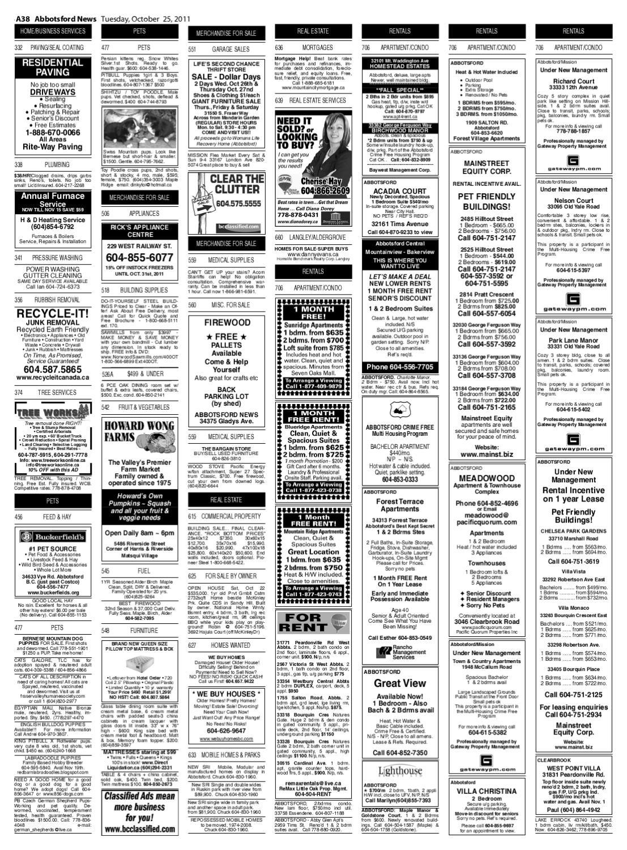 Tue Oct 25 2011 Abbotsford News