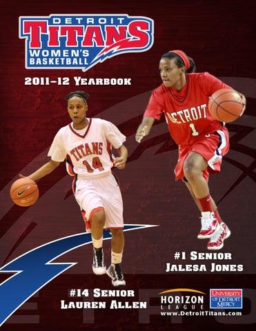 2011 12 Detroit Titans Women S Basketball Yearbook By P J Gradowski