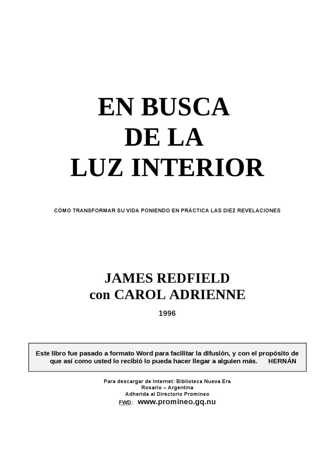 Redfield James - En Busca de la Luz Interior by Catalin Trandafir ...
