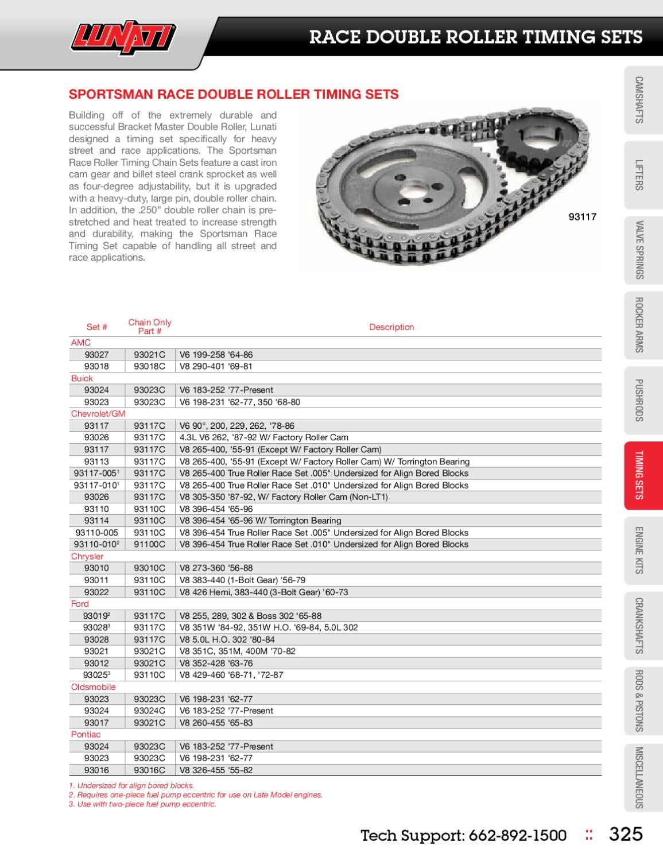 Lunati 93027 Sportsman Timing Set Amc V6