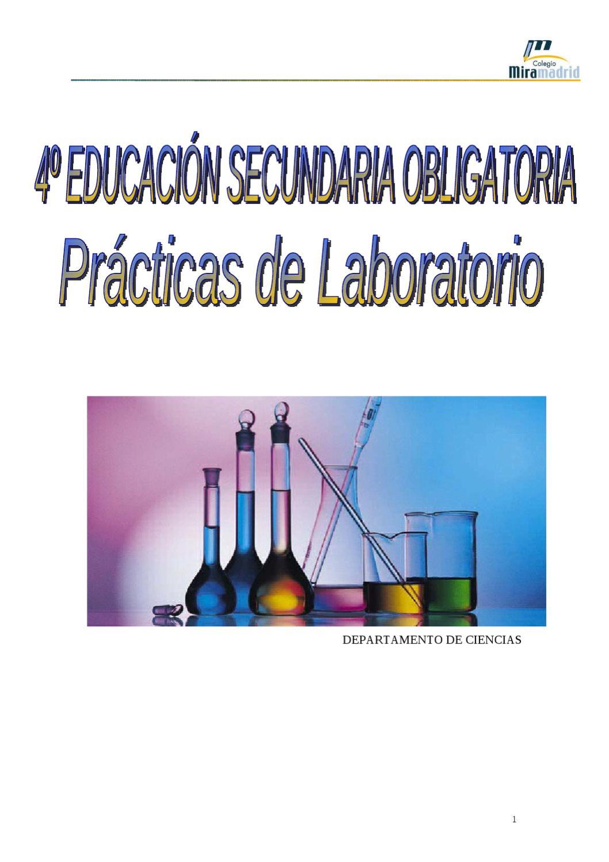 Cuadernillo prácticas 4º ESO FyQ by ANA DIAZ - issuu