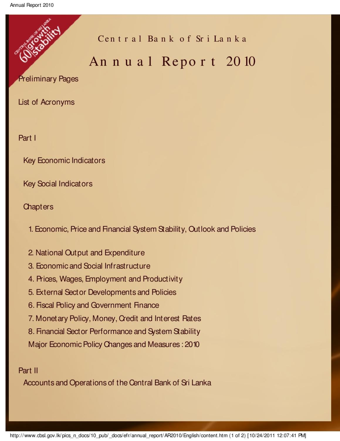 central bank of sri lanka annual report 2012 gdp
