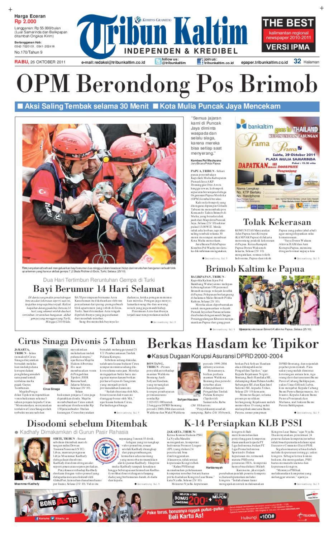 TRIBUNKALTIM - 26 OKTOBER 2011 by tohir tribun - issuu 53015a147b