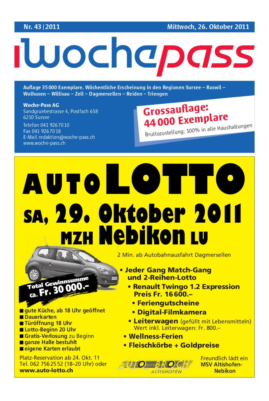 Woche Pass | KW43 | 26. Oktober 2011 by Woche Pass AG issuu
