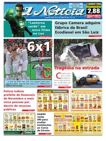 f0ce26131a Edição do dia 26 de outubro de 2011 by Jornal A Notícia - issuu