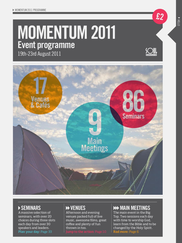 2011 Momentum Event Programme By Soul Survivor Issuu