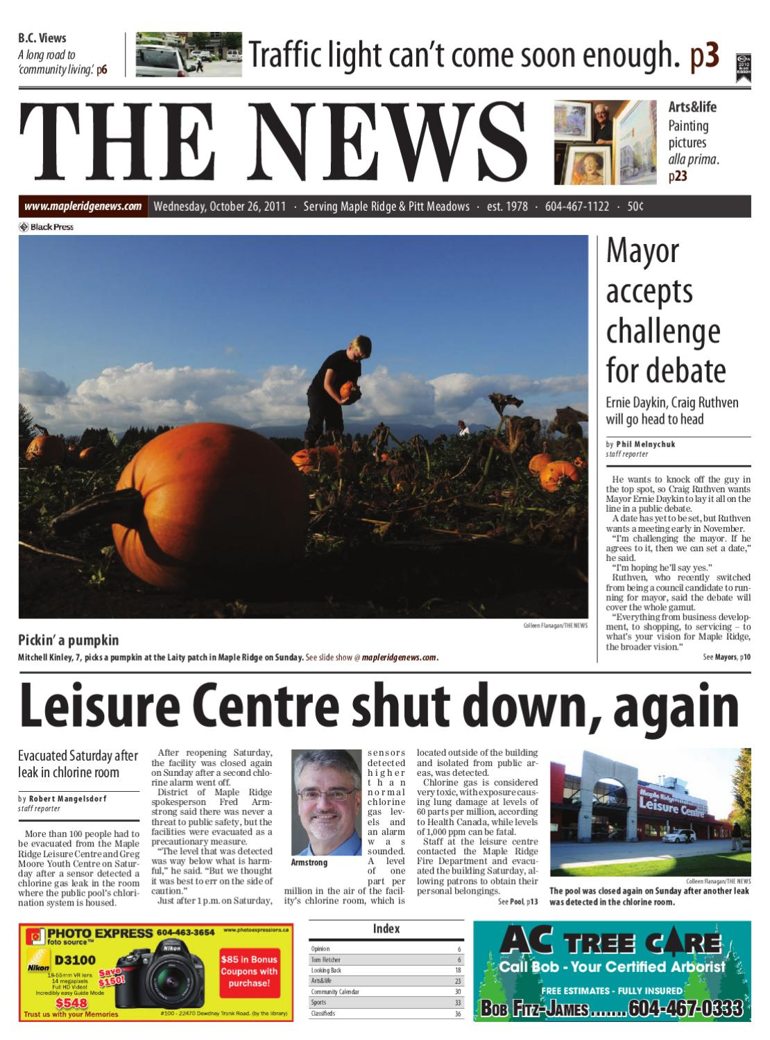 Maple Ridge Pitt Meadows News - October 26, 2011 Online Edition by Maple  Ridge News - issuu