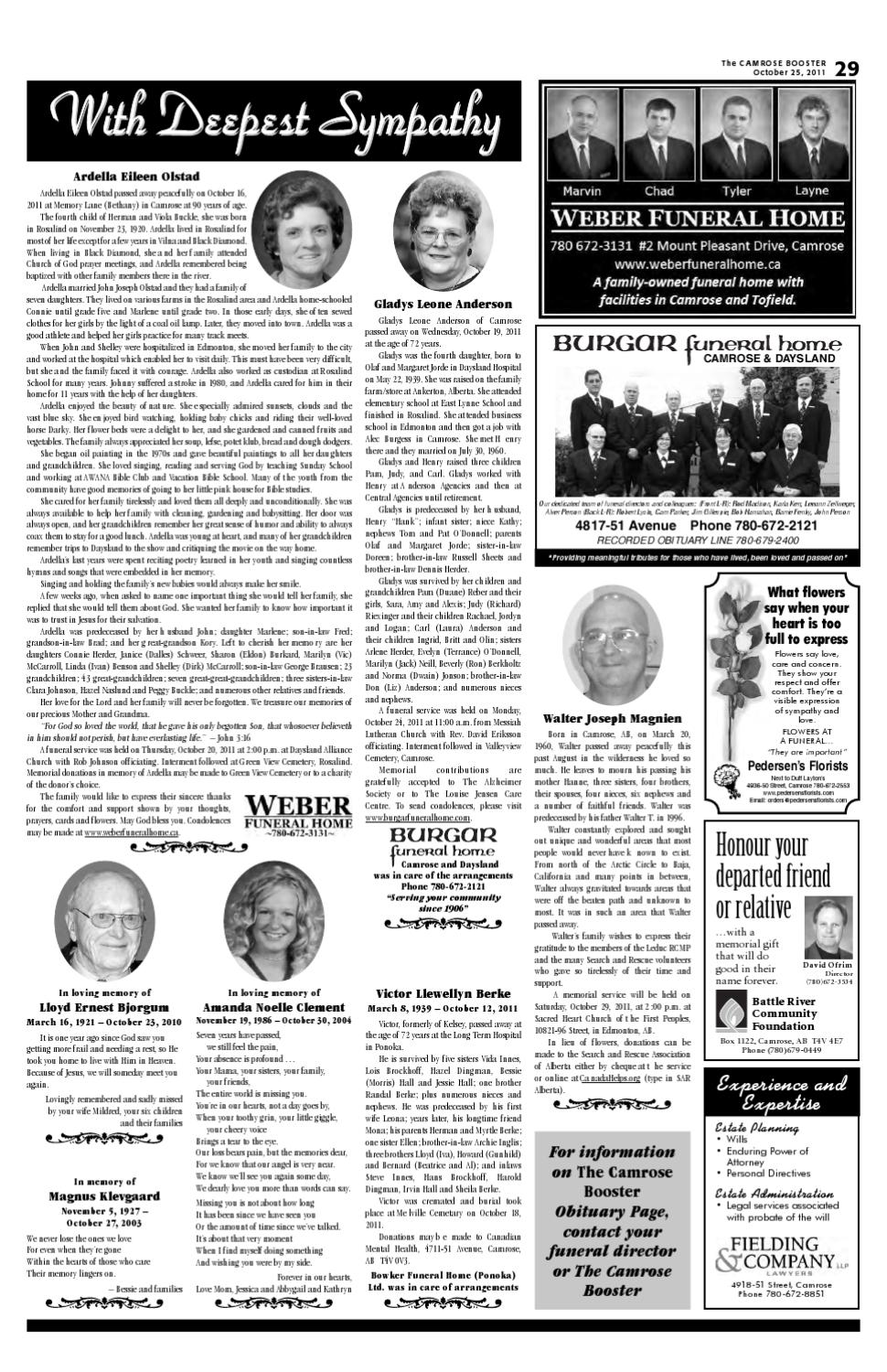 The Camrose Booster, October 25, 2011 by The Camrose Booster