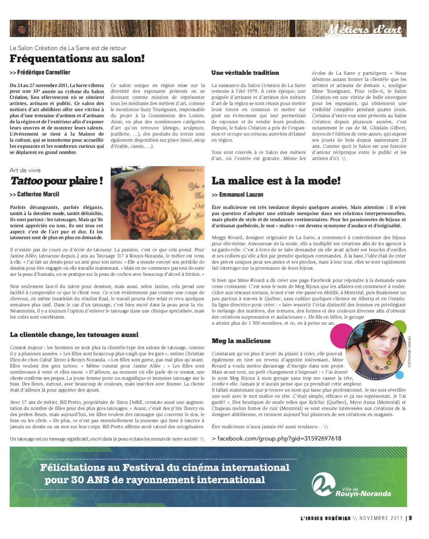 Novembre 2011 L Indice Bohemien Vol 03 No 003 By Journal