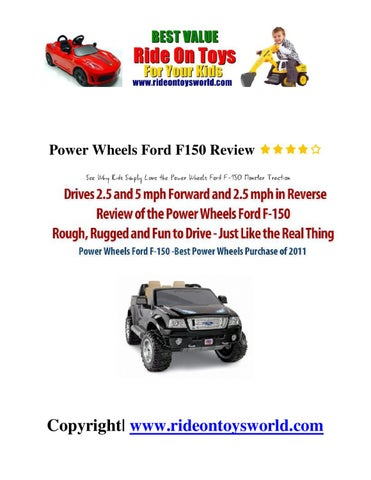 afd449fff6f95 Power Wheels Ford F150 Review by vina zamora - issuu