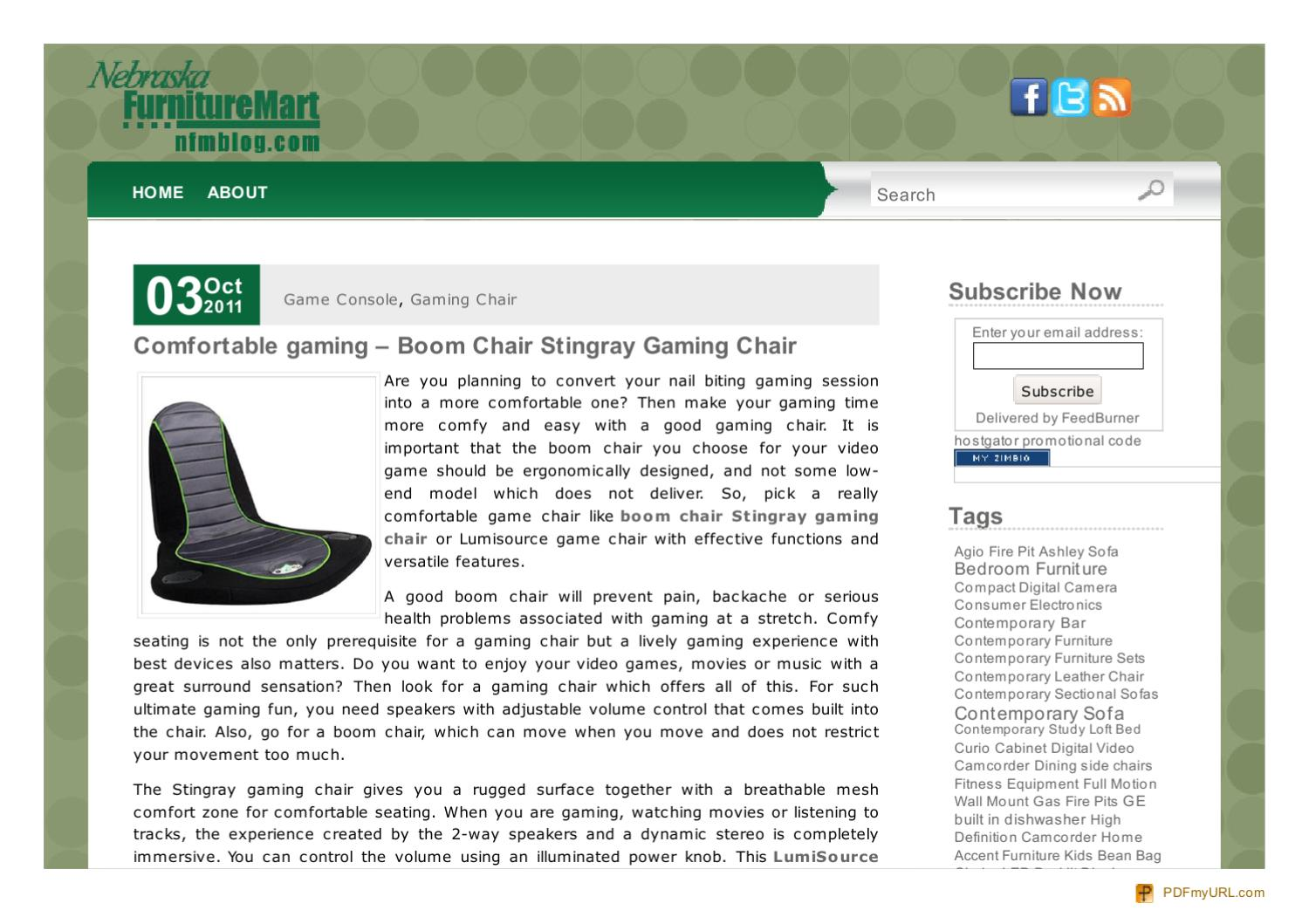 Admirable Nfmblog Com Comfortable Gaming Boom Chair Stingray Gaming Alphanode Cool Chair Designs And Ideas Alphanodeonline