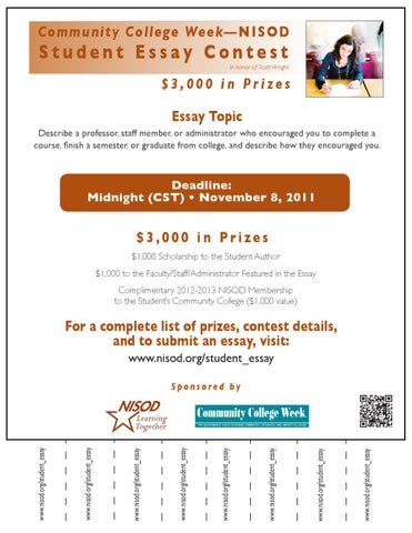 nisod essay contest Tyler junior college's community college essay contest information.