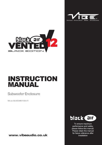 page_1_thumb_large vibe blackair vented 12 passive enclosure manual by vibe audio issuu vibe subwoofer wiring diagram at eliteediting.co