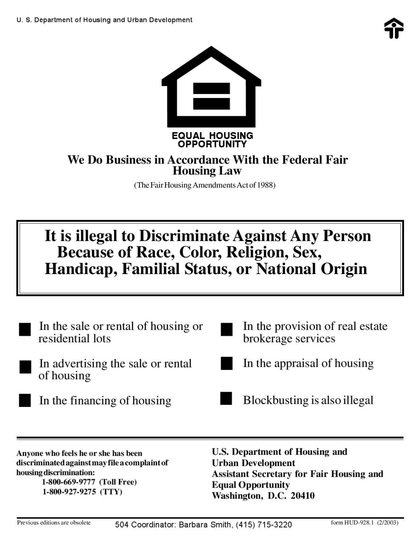 Fair Housing Poster 928-1 by SFHA - issuu