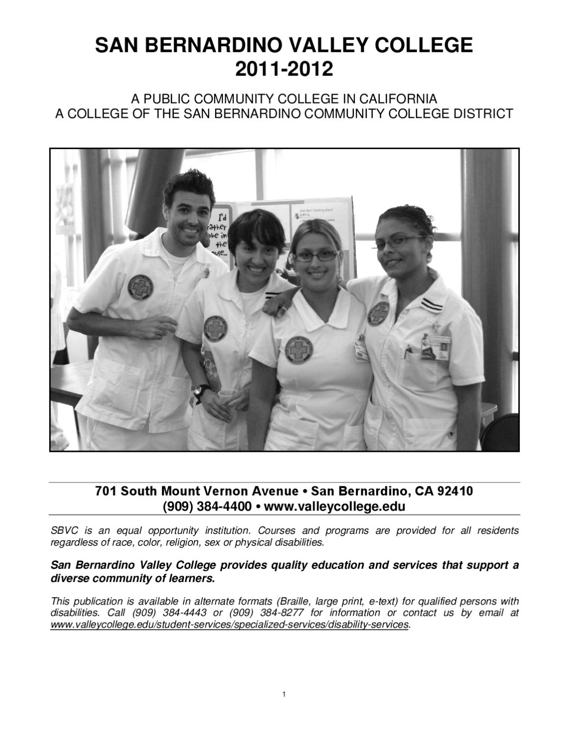 Sbvc 2011 2012 academic catalog by san bernardino valley college sbvc 2011 2012 academic catalog by san bernardino valley college issuu xflitez Gallery