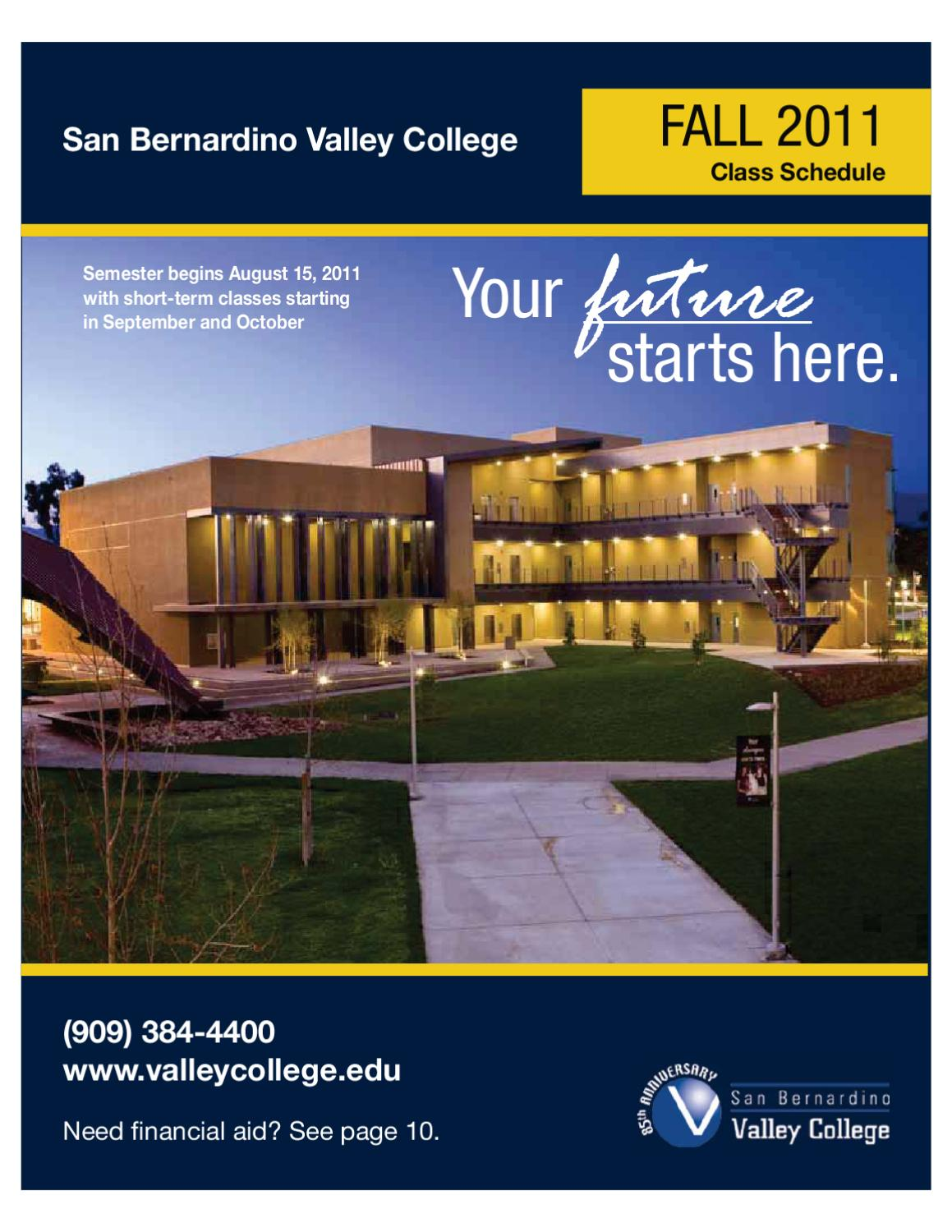 SBVC Fall 2011 Cl Schedule by San Bernardino Valley ... San Bernardino Essor Parcel Map on