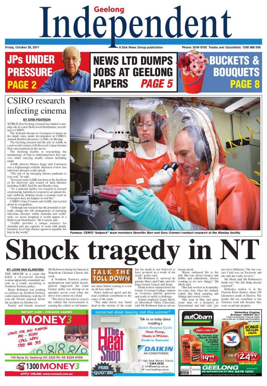 Geelong Independent 28/10/2011 | Star News Group Local News, Sport