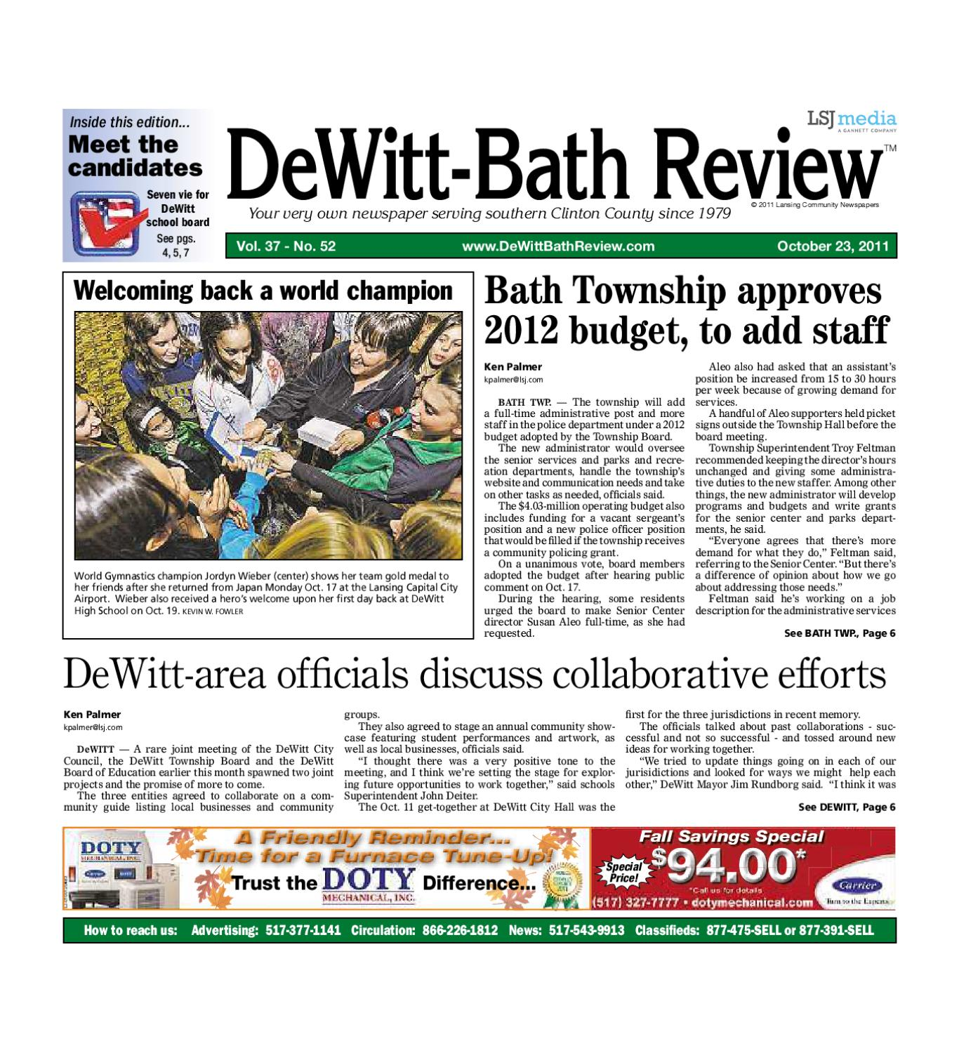 /dbr_10_23_11 by Lansing State Journal - Issuu
