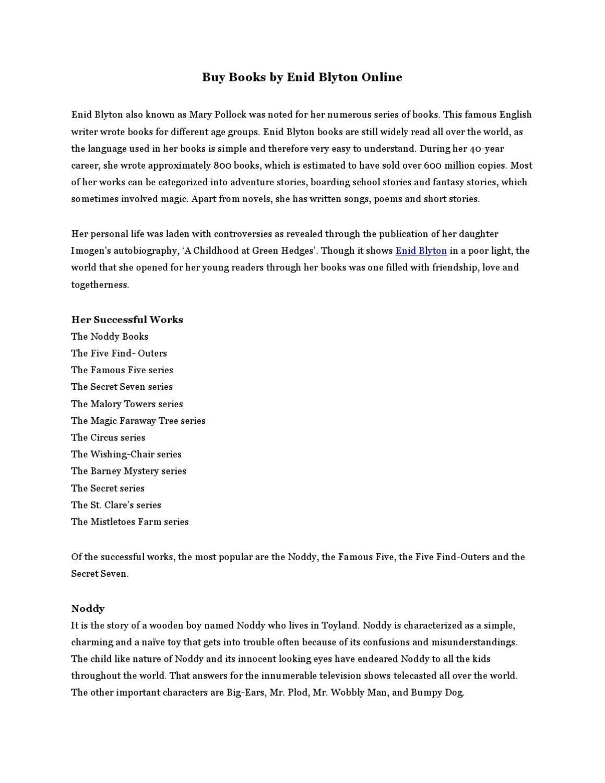 enid blyton short stories pdf