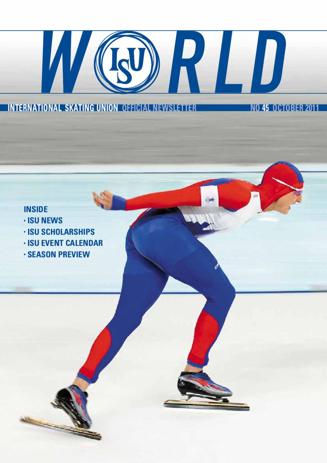 Isu World No45 October 2011 By International Skating Union Issuu