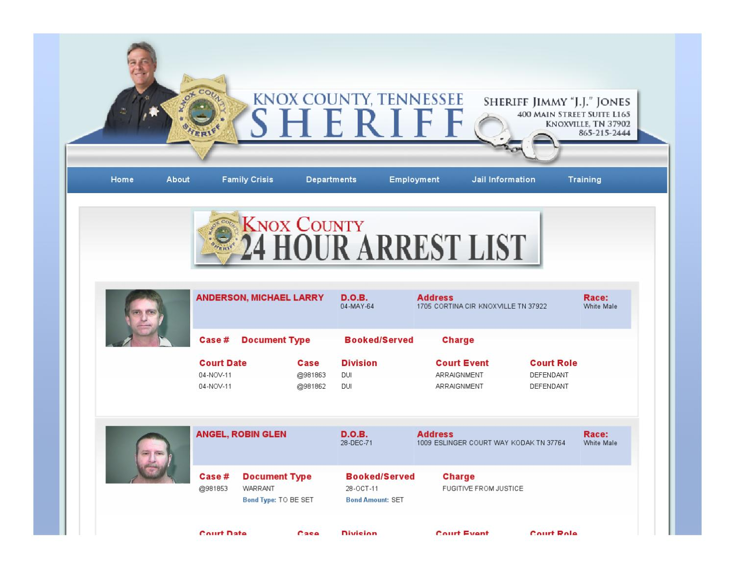 knox co. arrests - 10-28-11 by innovative technologies - issuu