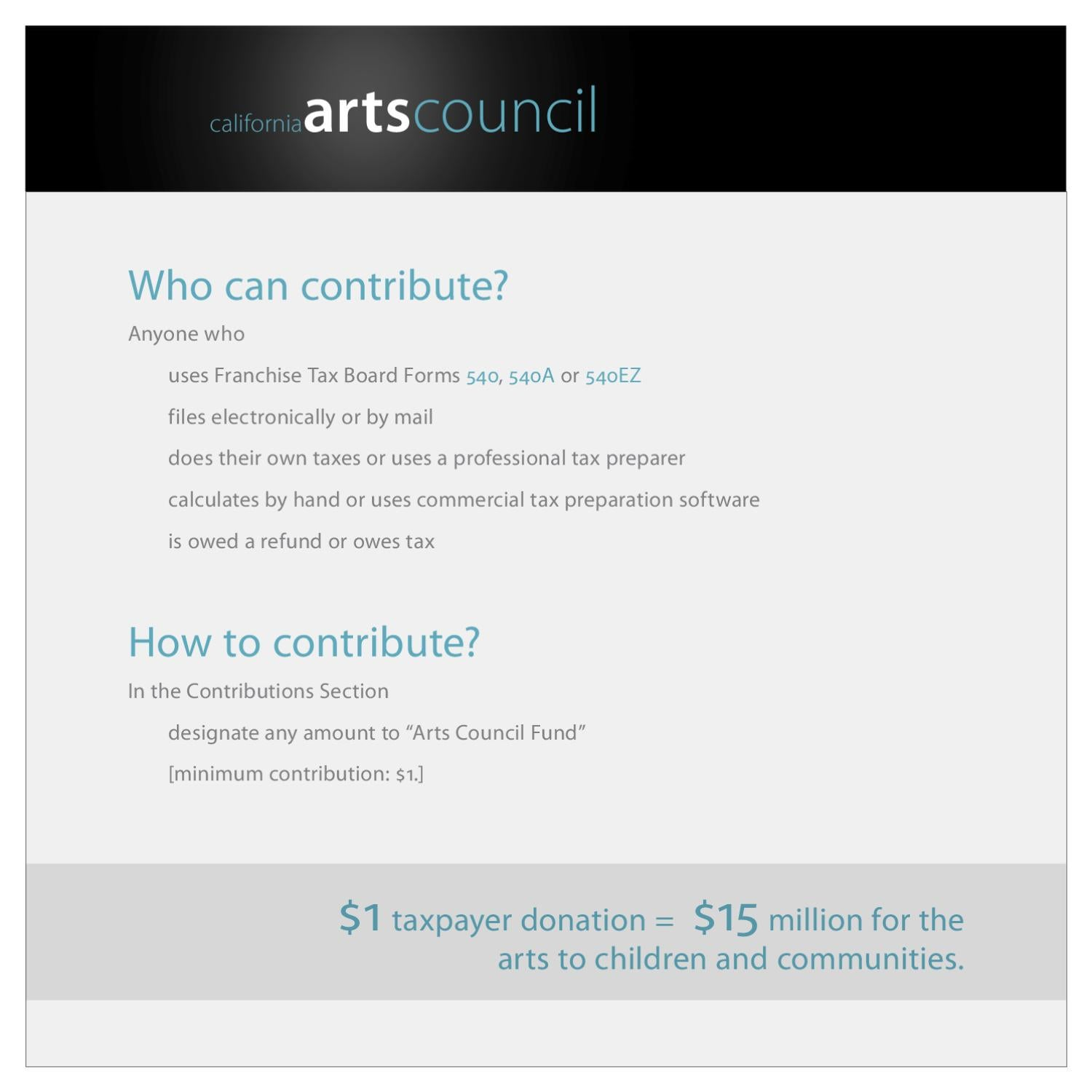 Tax Check Off Tutorial by California Arts Council - issuu