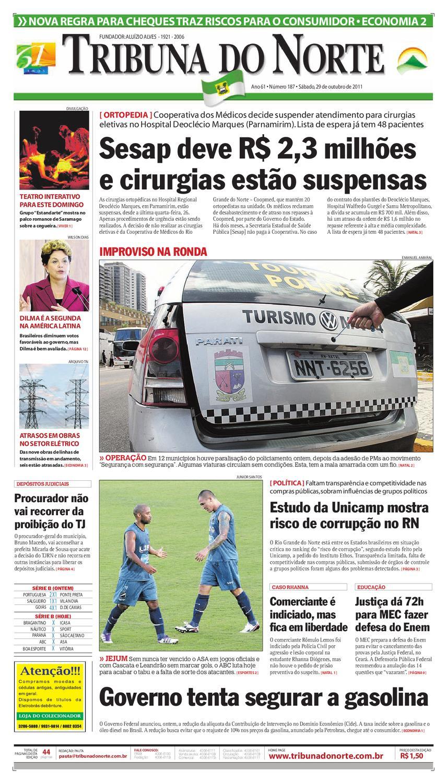 Tribuna do Norte - 29 10 2011 by Empresa Jornalística Tribuna do Norte Ltda  - issuu 3e309ed33644d