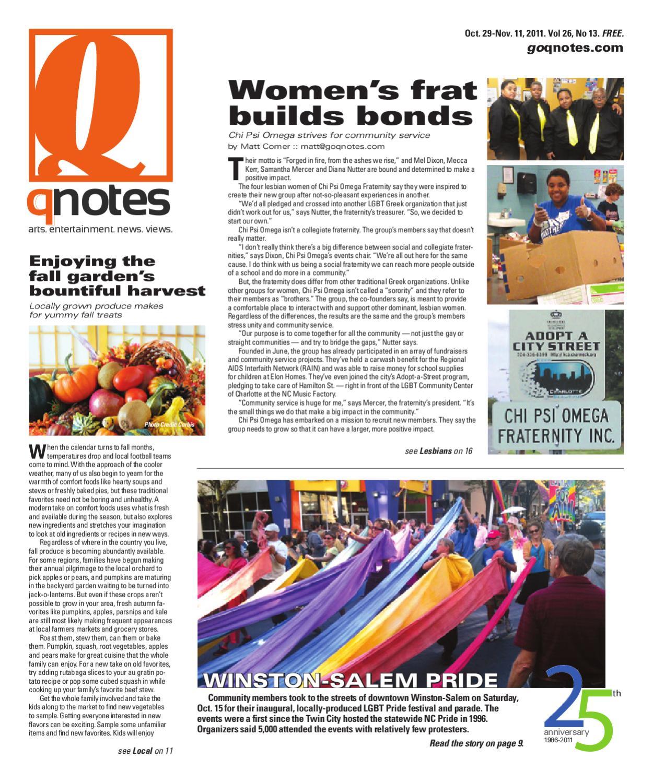 QNotes Oct. 29-Nov. 11, 2011 by QnotesCarolinas - issuu