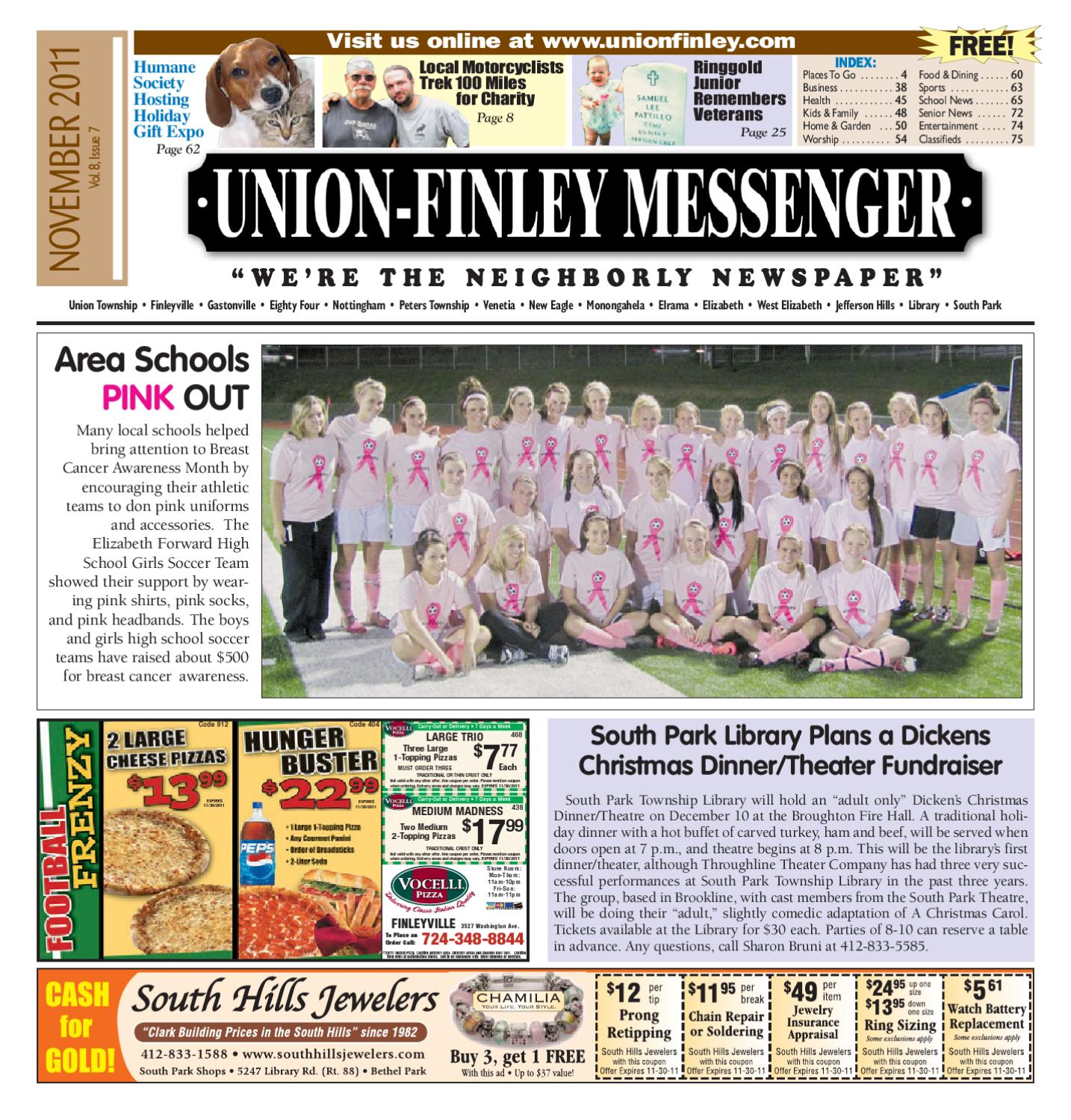 Union Finley Messenger November 2011 By South Hills Mon Valley Messenger Issuu