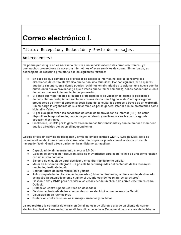 actividad 1. Correo electronico by Jose Gamez - issuu