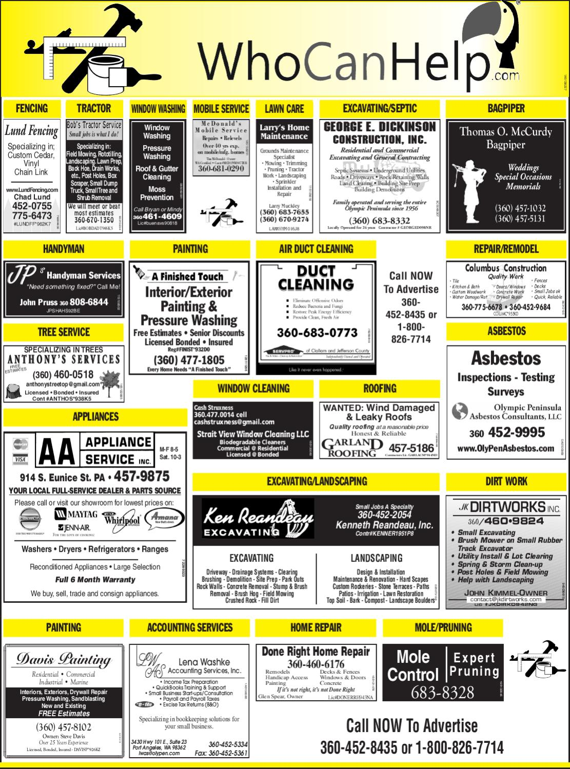 Service Directory October 28 2011 By Peninsula Daily News